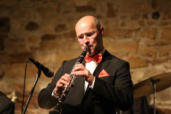 "Achim Bohlender (cl) - Old Fashion Jazzband - im Jazz-Club ""Schloss Köngen"" (14.12.2018)"