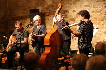 "Martin-Schnabels-Hot-Club-Quartett - im Jazz-Club ""Schloss Köngen"" (24.06.2016)"