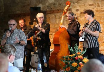"Martin Schnabels Hot Club Quartett - im Jazz-Club ""Schloss Köngen"" (24.06.2016)"