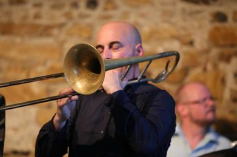 "Mathias Götz (tb) - Allotria Jazzband - im Jazz-Club ""Schloss Köngen"" (25.05.2018)"