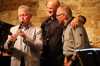 "Rolf Martin (cl) - Achim Bohlender Swingtett - A Tribute to Benny Goodman - im Jazz-Club ""Schloss Köngen"" (20.05.2016)"