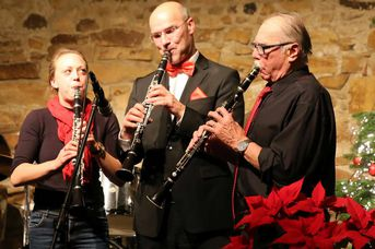 "Clarinetten Trio! - Old Fashion Jazzband - im Jazz-Club ""Schloss Köngen"" (14.12.2018)"