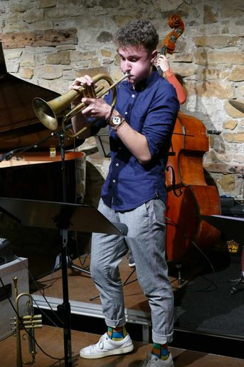 "Jakob Bänsch (flh, bl, arr) - Jacob Bänsch Collective - im Jazz-Club ""Schloss Koengen"" (25.09.2020)"