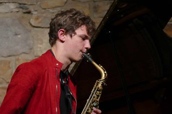 "Jakob Manz (as) - Jacob Bänsch Collective - im Jazz-Club ""Schloss Koengen"" (25.09.2020)"
